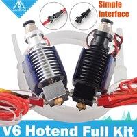 무료 배송 mellow 3d 프린터 부품 12 v 24 v e3d v6 hotend teflon tube kit 0.4/1.75mm j-head 냉각 팬이있는 원격 압출기