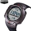 Sanda marca led digital hombres mujeres reloj militar deportes moda hombres 5atm reloj de natación escalada al aire libre ocasional clásico de pulsera