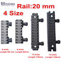 Mizugiwa 1 pc Riser Base Picatinny Rail 20mm Del Tessitore See-Thru AR Flat-Top 8 Slot 13 slot di Caccia del Airsoft Scope Mount caza