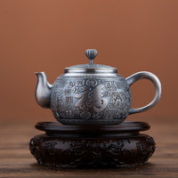 Prata esterlina S999 kungfu bule de chá xícara de chá conjunto portátil jogo de chá cerimônia do chá conjunto bule|Jogos de chá| |  -