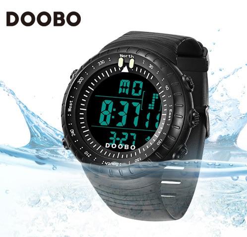 DOOBO Lujo Marca Hombres Mujeres Deportes Relojes Reloj Militar Digital LED Impermeable Al Aire Libre Ocasional Del Relogio masculino