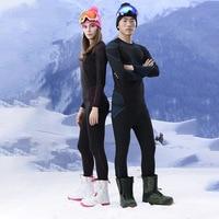 GSOU SNOW Brand Ski Underwear Women Men Long Johns Skiing Suit Quick Dry Thermal Ski Jacket