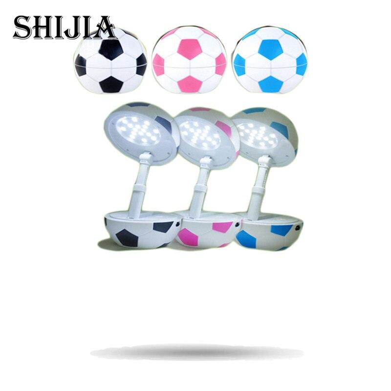 Novelty DIY USB Football Rechargeable LED Desk Lamp Foldable Flexible Night Light LED Table Lamp Study Lamp Reading Lamp for boy
