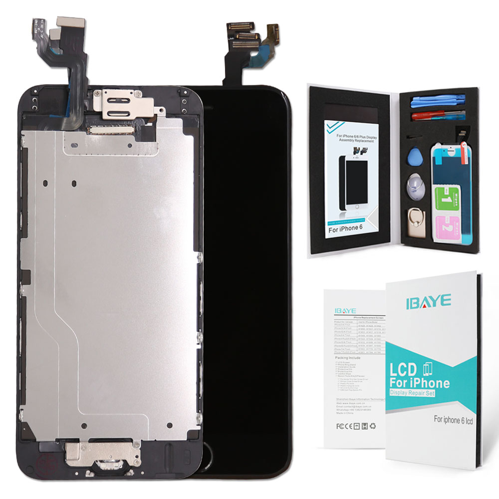 quality design 4eec7 ccd7d 2019 For 6 Screen LCD Replacement Display With Home Button Front Camera  Speaker Proximity Sensor Full Digitizer Touch Assembly From Alexanderk,  $42.21 ...