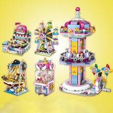 Diamond Mini Blocks Amusement Park Series Pirate Ship Playground Christmas Toy for Children Bricks Building Block DIY gifts