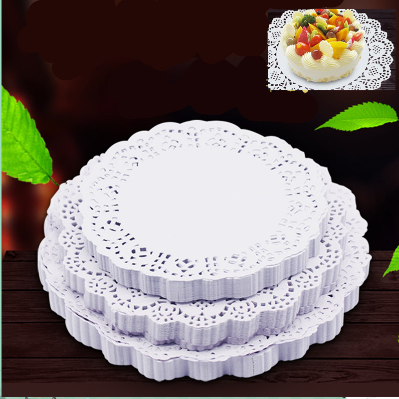 4.5 Inch Retro Romantic Flower Embossed Round Paper Lace Doilies 100Pcs/lot Wedding Party Decoration Loyley Craft Paper Gifts