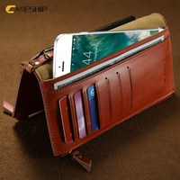 CASESHIP 5 5 Universal Genuine Leather Wallet Case For IPhone 7 6s 6 Plus 5S SE