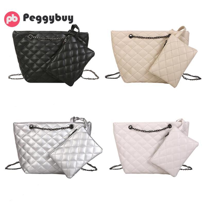 Shoulder Bags Friendly 2pcs/set Messenger Bag Women Purse Chain Handbag Shoulder Crossbody Bags
