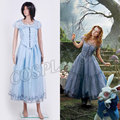 Tim B-urton Alice In Wonderland Alice cosplay Costume Spring Summer Blue long Dress for Woman Girl Halloween Party clothing