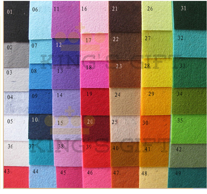 Feltro Poliestere 49 Pollice Fai Tessuto Tessuto Colori Te 12 Da qgRZxfwCq