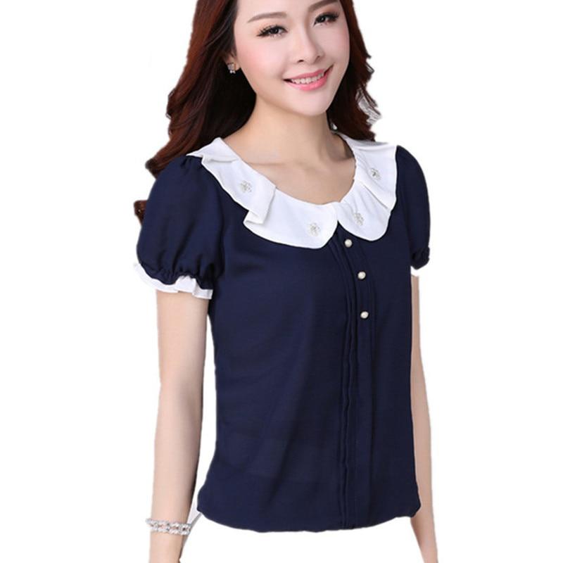 Peter Pan Collar Shirt Women