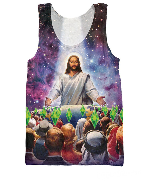 3c1bee53f43f66 3d Fashion Clothing Galactic Buddha Tank Top Trippy Space Weed-themed  Colorful Vest Summer Jersey For Women Men