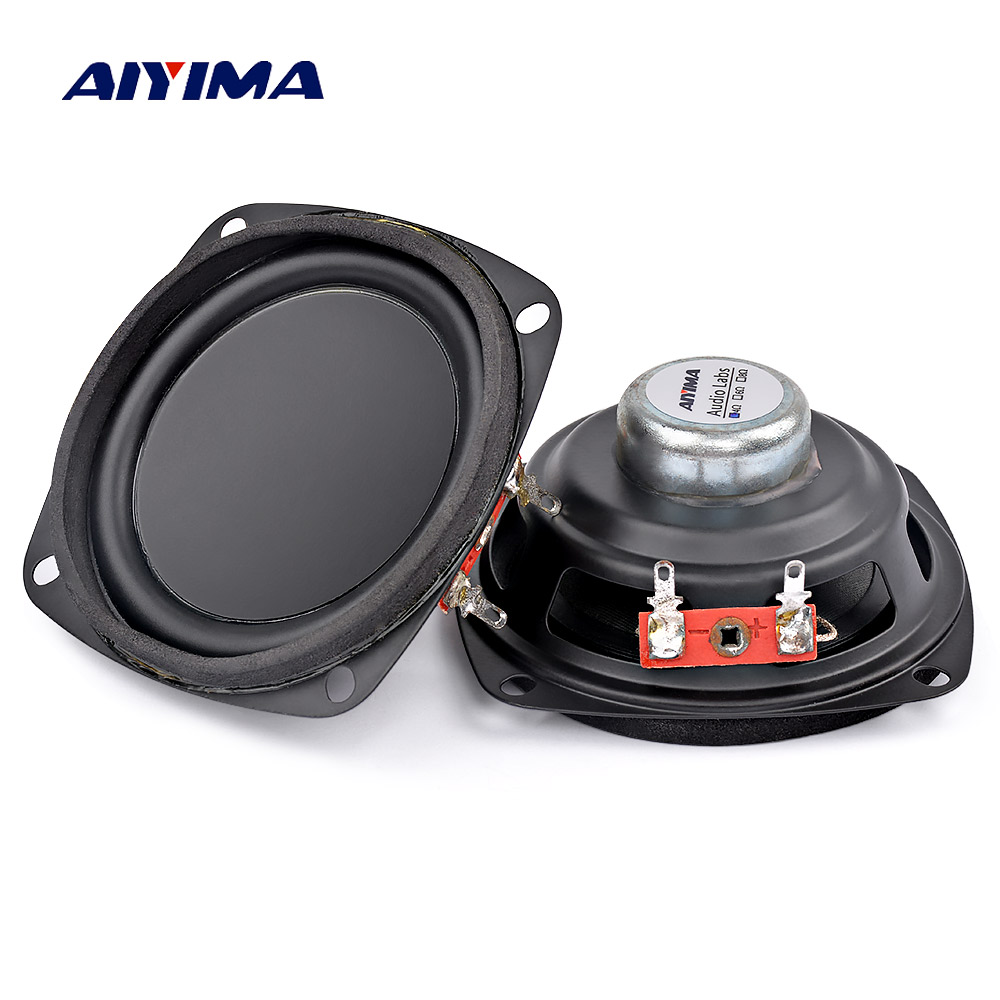 AIYIMA 2Pcs 3Inch Audio Portable Speakers 4Ohm 5W Full Frequency Inner Magnetic Rubber Side DIY Speaker цена 2017