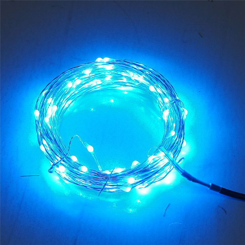 10 100 LEDS USB Operated Copper Wire Flexible String Fairy Light String Lights Christmas Wedding Festival Party Decor