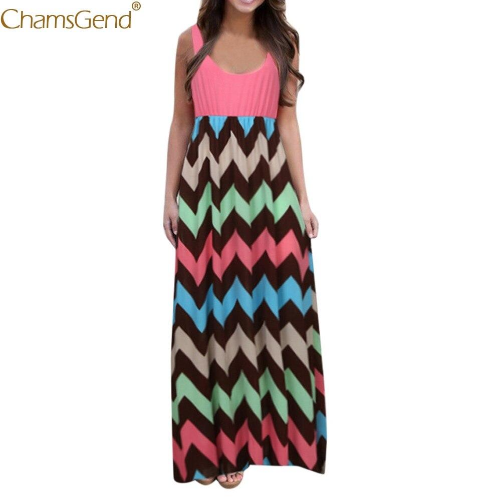 Womens summer dress Striped Boho Beach dresses woman party night  Lady Summer Sundrss Maxi Dress Plus Size elegant dressesFeb3