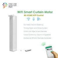 Eruiklink CM82TN Smart wifi Remote Curtain Motor,Mi Home App/RF433 control+Voice Control via Xiaomi Ai Speaker,work with Mijia