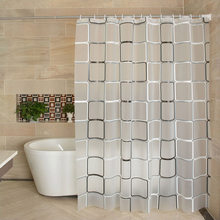 Feiqiong Brand Waterproof Shower Curtain Liner 180x180 PEVA Fabric For The Bathroom With 12 High Quality Hooks(China)