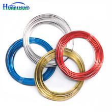 Фотография 8M Universal Car Styling Flexible Trim For Car Interior Exterior Moulding PVC Decorative Strip With Blue/Gold/Red/Chrome 7 Color