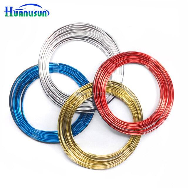 HUANLISUN 8 Meters Universal Car Styling Flexible Trim For Car Interior  Exterior Moulding PVC Decorative