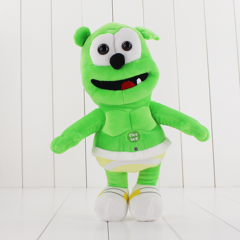 Kids Toys 2017 Hot Sale 30cm Gummy Bear Voice Pet Funny Lovely Toys Sounding Plush Toy Best Gift For Kids Drop Shipping