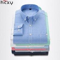 HCXY 2018 Spring Long Sleeve Plus Size 5XL Men Casual Shirt Male Business Dress Shirt Men