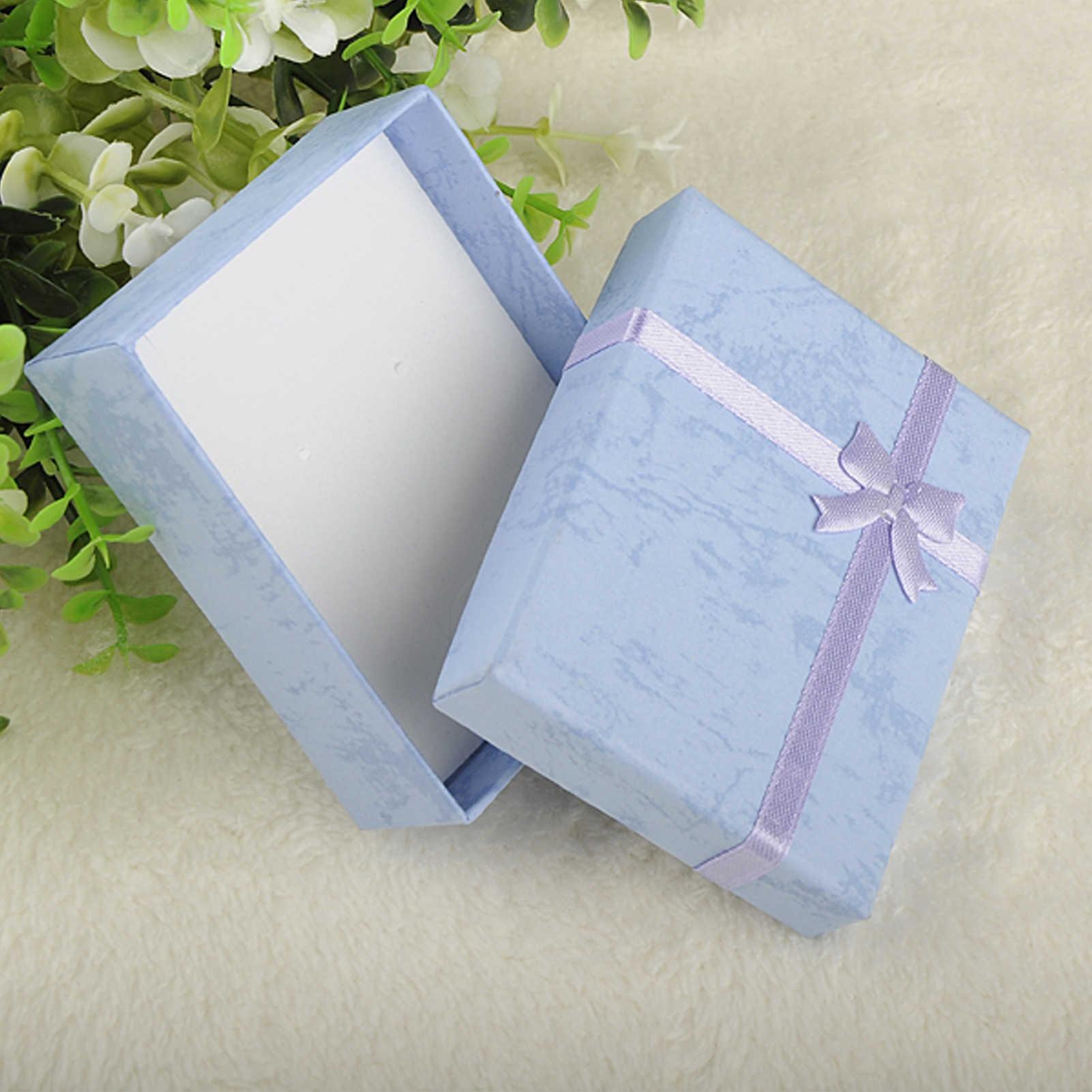 אופנה צבעוני 1PC החדש 4x4x3 cm/8x5x2.5 cm/9 x 7x3cm Jewery ארגונית תיבת טבעות אחסון חמוד תיבת קטן אריזת מתנה עבור טבעות עגילים