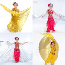 2017 Girls Handmade Belly Dance Costume Children's Angel Isis Wings for Kids Gold(no sticks)