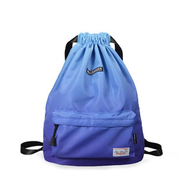 Waterproof Gym Bag Women Girls Sports Bag Travel Drawstring Bag Outdoor Bag Backpack for Training Swimming