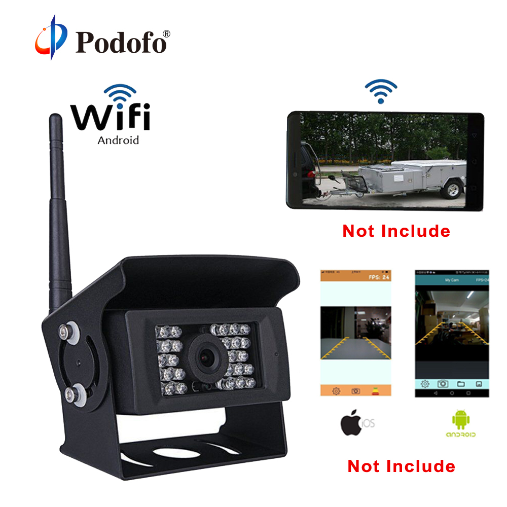 Podofo Digital WIFI Reversing Camera Dash Cam Night Vision Car Rearview Camera Mini Backup Parking Camera for iPhone and AndroidPodofo Digital WIFI Reversing Camera Dash Cam Night Vision Car Rearview Camera Mini Backup Parking Camera for iPhone and Android