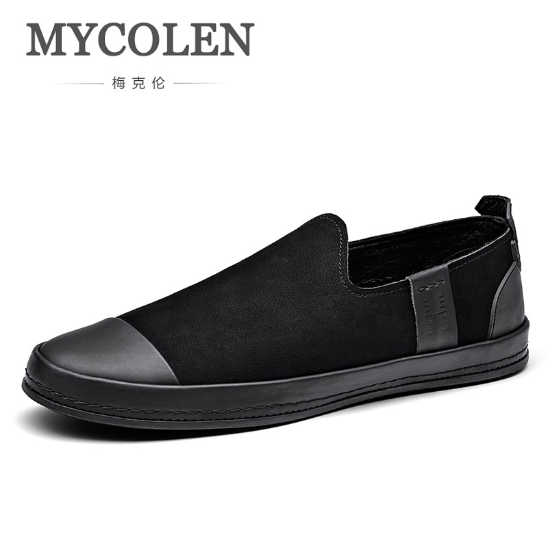 MYCOLEN New Brand Fashion Casual Shoes Men Loafers Adult Footwear Quality Breathable Genuine Leather Soft Driving Flats Shoes mycolen brand new fashion autumn spring men driving shoes loafers leather boat shoes breathable male casual flats loafers