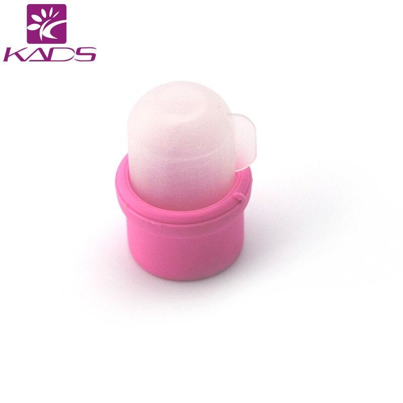 ФОТО KADS Wholesale Nail Soak Bowl 10packs/set Salon Acrylic Nail Polish Remover Soak Soakers Cap Tool Pink UV Gel