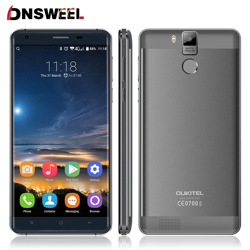 Original Oukitel K6000 Pro 5 5 FHD MTK6753 Octa Core Android 6 0 Mobile Cell Phone