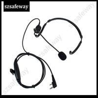 uv 5r uv Talkie Walkie מאחורי אוזניות ראש עם קו דחיפה PPT גדולה לדבר על KENWOOD ו Baofeng UV-5R KG-UVD1 (4)