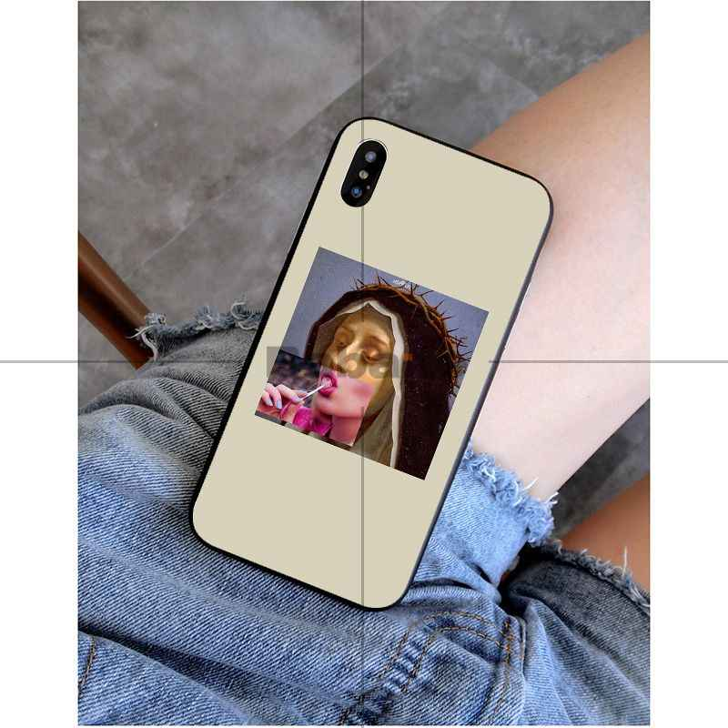 Babaite Mona lisa Mathilda Natalie Portman Kuso DIY Protector สำหรับ iPhone 8 7 6 6 S Plus 5 5 S SE XR X XS MAX Coque Shell