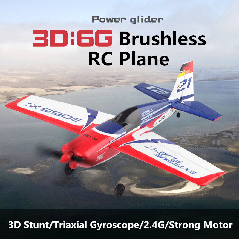 Professional Bruless RC airplane Glider 2.4G EPS 3D 6G RTD Plane Remote Control Hand Throwing Electric RC Plane toys for kids