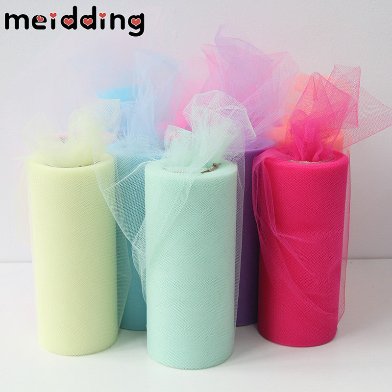 Tulle Roll (22m roll)15cm Crystal Tulle Organza Roll Spool Tutu Soft  Wedding Christmas Birthday Party Kids Favors Baby Shower f199641ceb5e