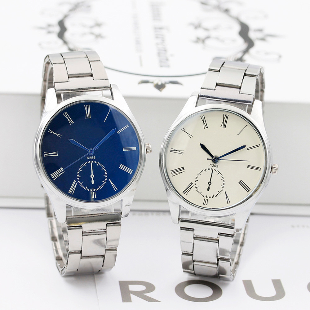 Men Stainless Steel Sport Watches Fashion Simple Quartz Hour Wrist Analog Watch 2019 New Arrival