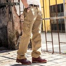 2017 Men Cargo Pants Men Military High Quality Pants Casual Mens Multi Pocket Overalls Fashion Long Trousers Plus Size 1046