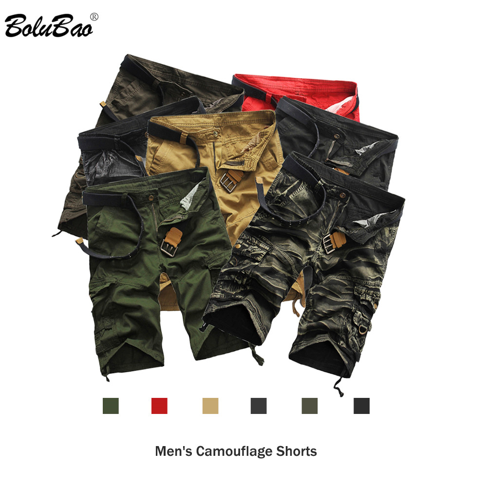 Bolubao New Brand Men Casual Shorts 2019 Autumn Male Cool Bermuda Casual Short Men Camouflage Comfortable Shorts