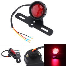 Universal Motorcycle Tail Brake Stop Light 12V 3 Line Red Flashing Retro LED Rear Car for Lamp Motorbike