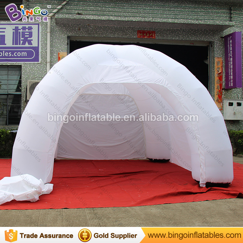 Free shipping 6 M Inflatable spider tent in white with four legs durable inflatable dome event tent for commercial show toy tent free shipping inflatable bubble dome tent inflatable event tent for rental