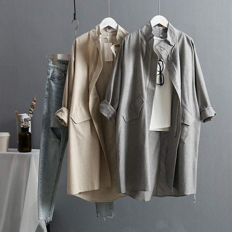 2019 осеннее пальто для женщин Харадзюку, Свободное длинное пальто, женское повседневное пальто большого размера, уличная одежда, пальто для