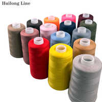 202 Sewing thread 4500 yards 100% cotton yarn Environmental protection polyester Line Bottom Line of Clothing, Luggage and Shoes