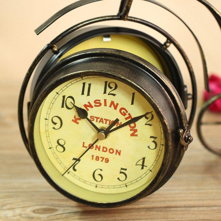 Classic Novelty Mechanism Clock Craft Decorative Alarm Clock Art ...