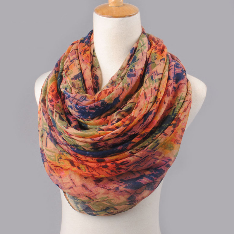 2019 High Quality WOMAN SCARF Cotton Voile Polyester Scarves Solid Warm Autumn And Winter Scarf Shawl Printed Drop Shipping