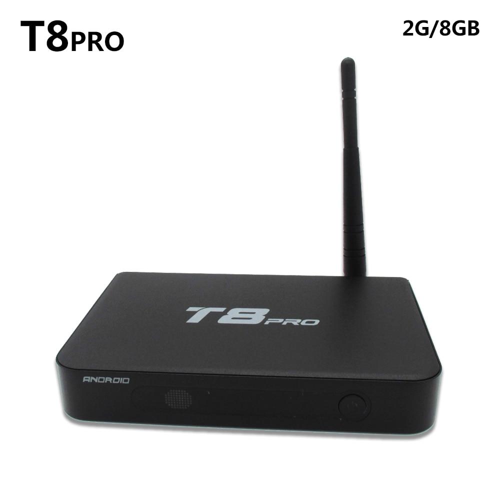 SZ T8 Pro Android5.1 4k TV Box Amlogic S812 Quad Core 2G/8G Support Airplay DLNA HEVC IPTV KODI Smart Media Player