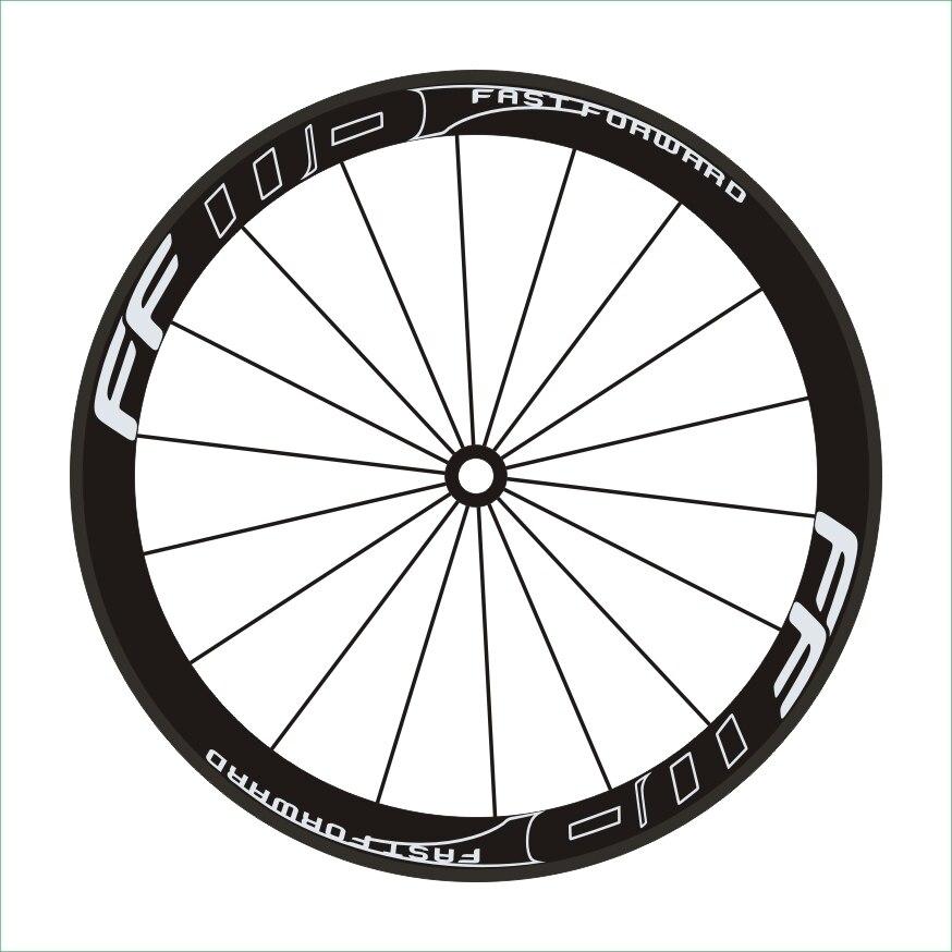 Outline FF 8Pics/set Road Bike 700c  Wheel Rim Stickers  Bike Wheel Decorative Wheel Decals carbon wheelset Vinyl film rim sticker bike stickers bike wheel sticker - title=