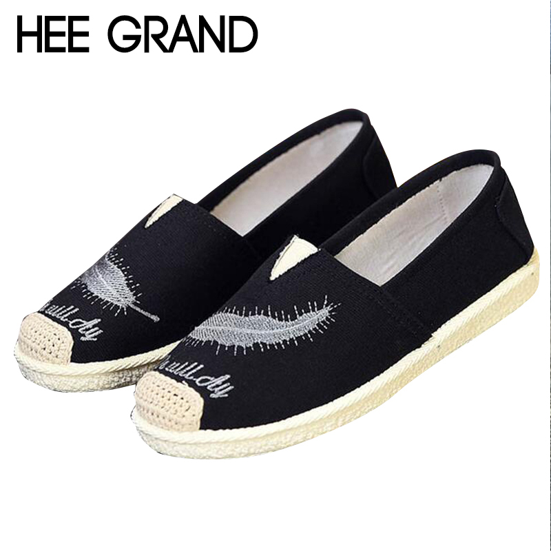 купить HEE GRAND Feather Pattern Casual Flat Fisherman Shoes Slip-on Loafers White Femininos Spring&Summer Zapatos Mujer Flats XWD6622 по цене 497.08 рублей