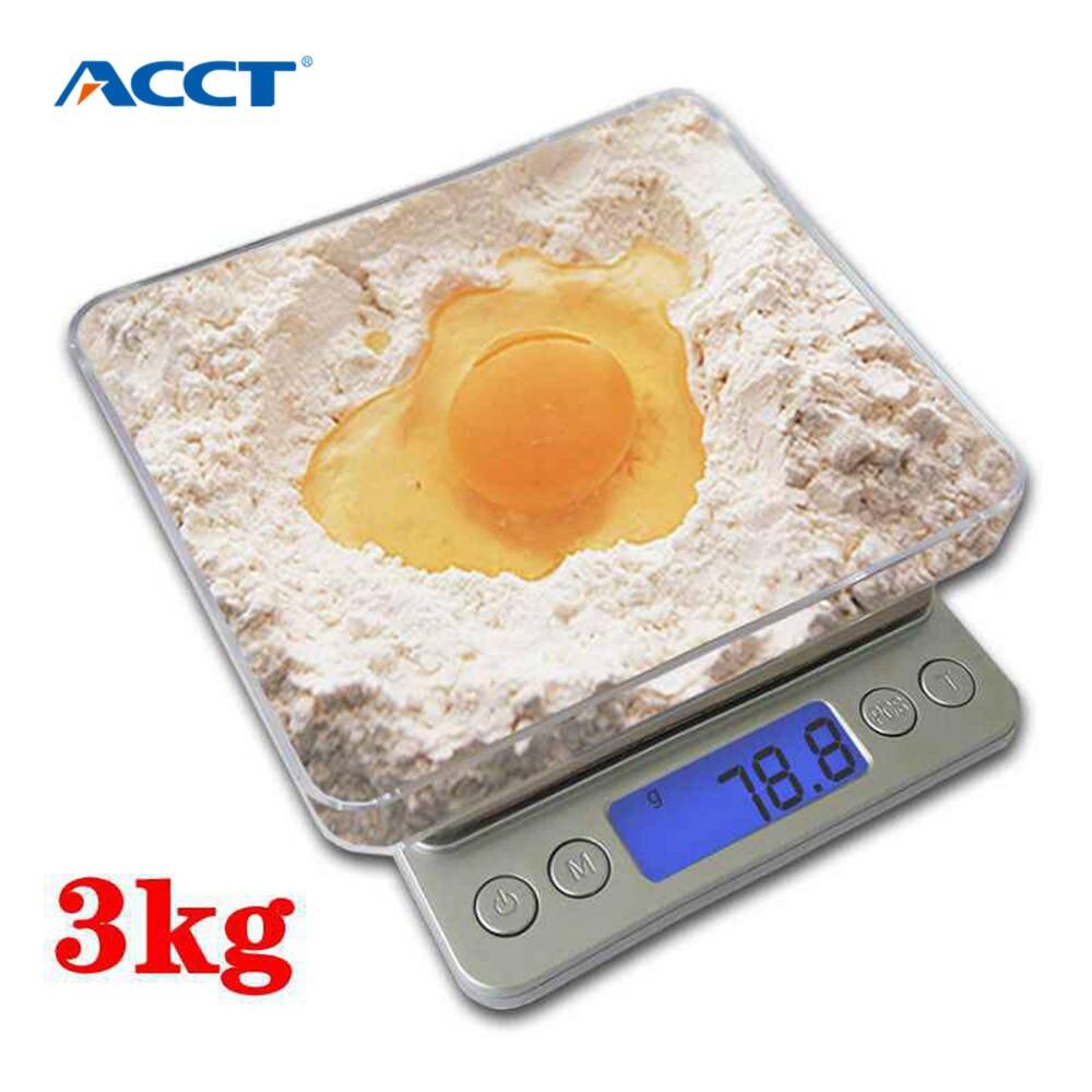 3000G/0,1g Mini bolsillo balanza Digital electrónica Caja Postal cocina joyas Balance de peso escala Digital