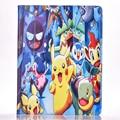 Горячая Игры Покемонов Go Case Cover for ipad 2/3/4 Стенд флип Tablet Кожа PU Case Cover Shell Wake Авто Sleep Pocket Monster